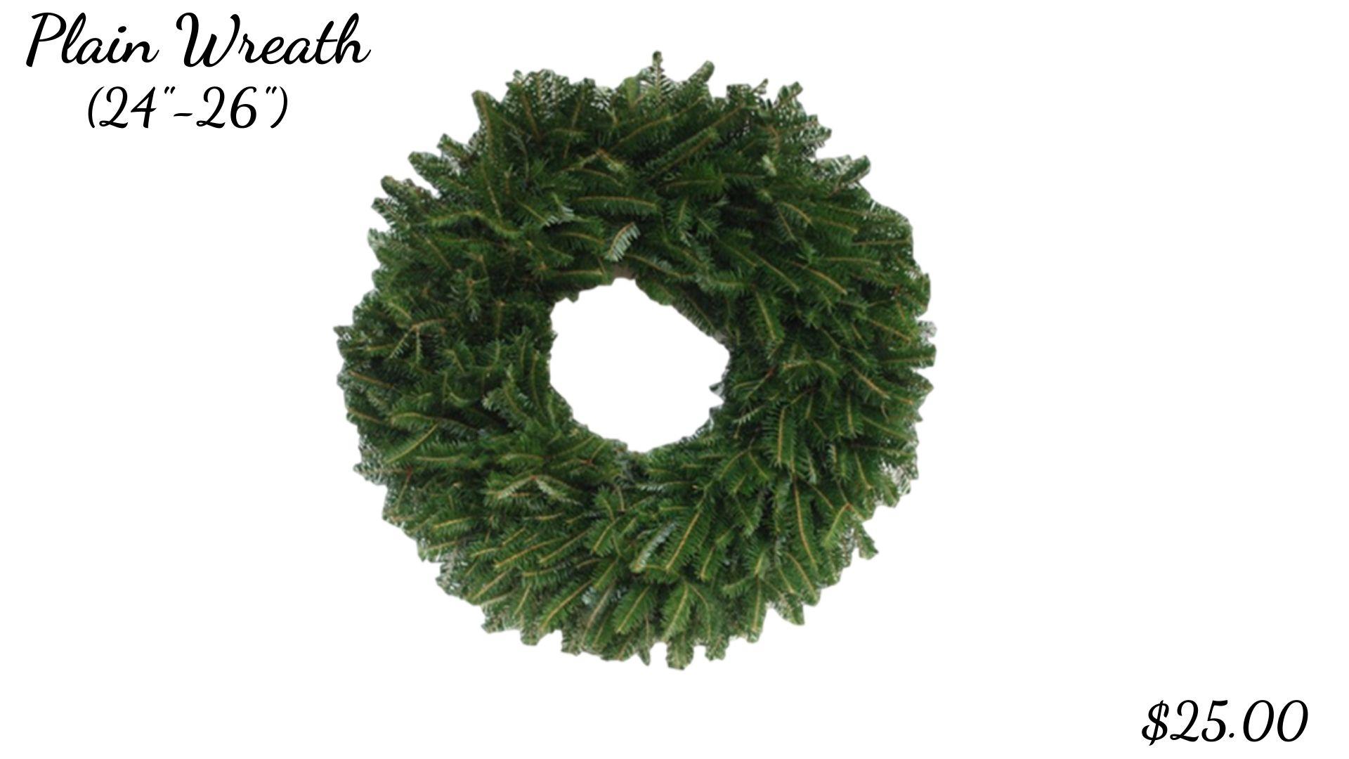 Plain Wreath (24_-26_)