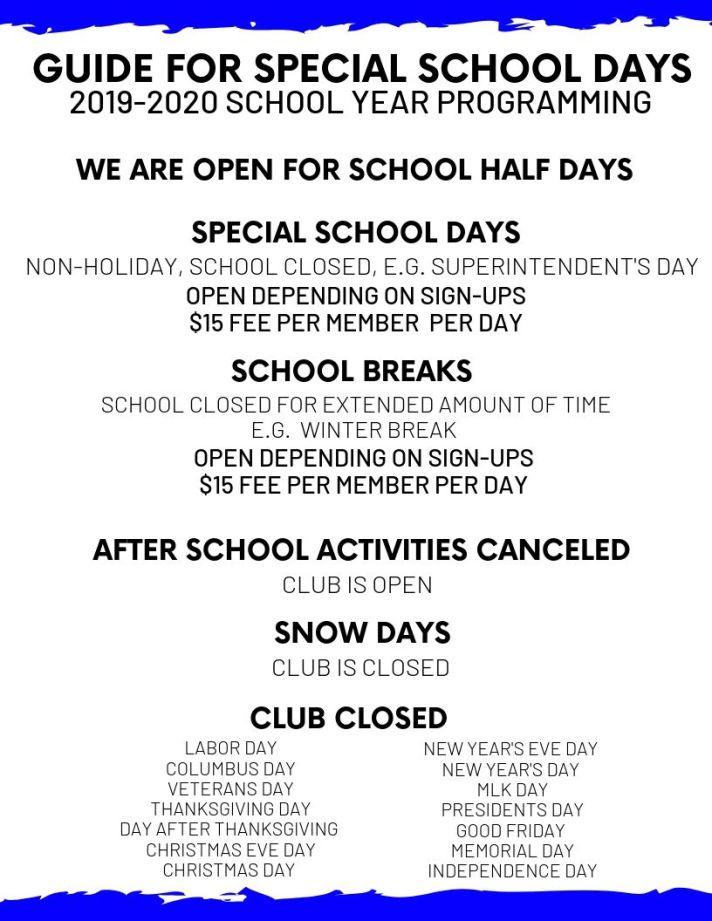 special-school-days